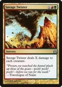 Savage Twister, Magic, Commander