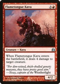 Flametongue Kavu, Magic, Commander