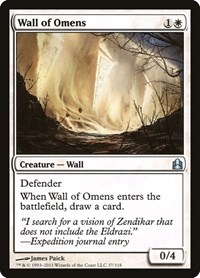 Wall of Omens, Magic, Commander