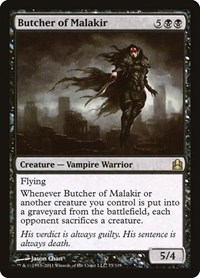 Butcher of Malakir, Magic: The Gathering, Commander