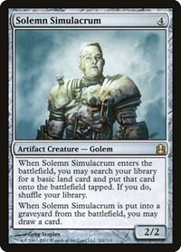 Solemn Simulacrum, Magic: The Gathering, Commander