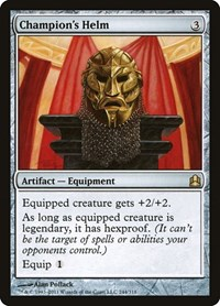Champion's Helm, Magic: The Gathering, Commander