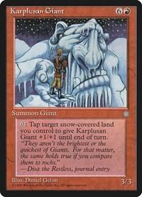 Karplusan Giant, Magic, Ice Age