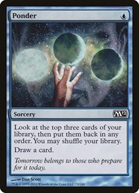 Ponder, Magic: The Gathering, Magic 2012 (M12)