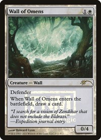 Wall of Omens NM EMA ETERNAL MASTERS MTG GREAT CONDITION