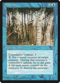 English Ice Age MTG Magic 1x Musician Moderate Play