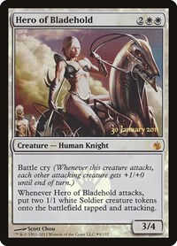 Hero of Bladehold, Magic: The Gathering, Prerelease Cards