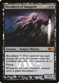 Bloodlord of Vaasgoth, Magic: The Gathering, Prerelease Cards