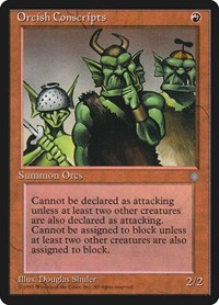 Orcish Conscripts, Magic: The Gathering, Ice Age