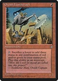 Orcish Lumberjack, Magic, Ice Age