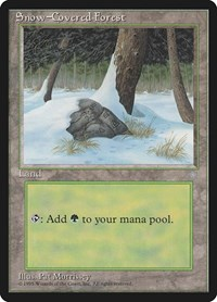 Snow-Covered Forest, Magic: The Gathering, Ice Age