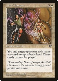 Null Chamber, Magic: The Gathering, Mirage
