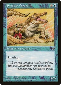 Sandbar Crocodile, Magic: The Gathering, Mirage