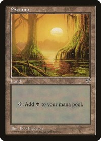 Swamp (Mossy Roots), Magic: The Gathering, Mirage