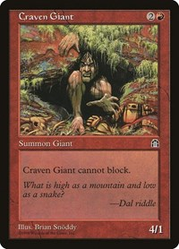 Craven Giant, Magic, Stronghold