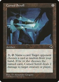 Cursed Scroll, Magic: The Gathering, Tempest