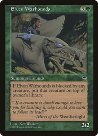 Elven Warhounds, Magic: The Gathering, Tempest