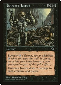 Evincar's Justice, Magic: The Gathering, Tempest