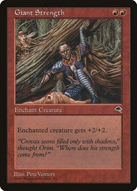 Giant Strength, Magic: The Gathering, Tempest