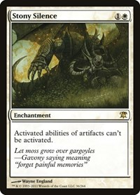 Stony Silence, Magic: The Gathering, Innistrad
