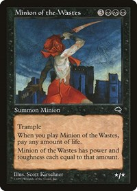 Minion of the Wastes, Magic: The Gathering, Tempest