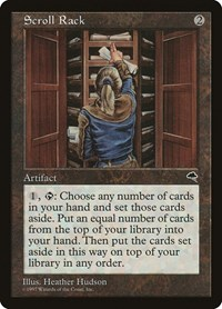 Scroll Rack, Magic: The Gathering, Tempest