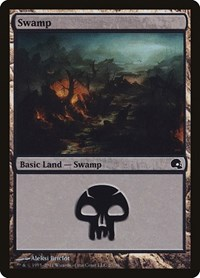 Swamp (27), Magic: The Gathering, Premium Deck Series: Graveborn