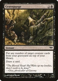 Gravepurge, Magic: The Gathering, Dark Ascension