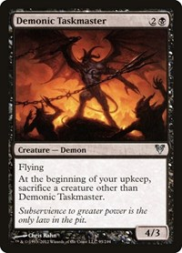 Demonic Taskmaster, Magic: The Gathering, Avacyn Restored