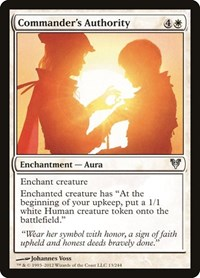 Commander's Authority, Magic: The Gathering, Avacyn Restored