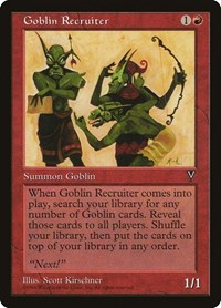 Goblin Recruiter, Magic: The Gathering, Visions
