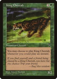 King Cheetah, Magic: The Gathering, Visions