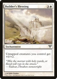 Builder's Blessing, Magic: The Gathering, Avacyn Restored