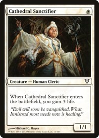 Cathedral Sanctifier, Magic: The Gathering, Avacyn Restored