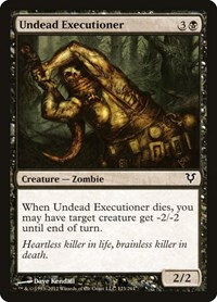 Undead Executioner, Magic: The Gathering, Avacyn Restored