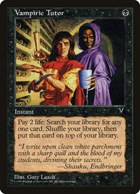 Vampiric Tutor, Magic: The Gathering, Visions