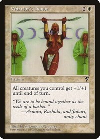 Warrior's Honor, Magic: The Gathering, Visions