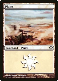 Plains (134), Magic: The Gathering, Planechase 2012
