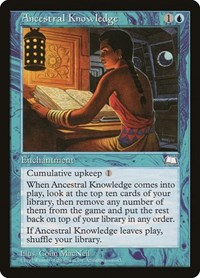 Ancestral Knowledge, Magic: The Gathering, Weatherlight