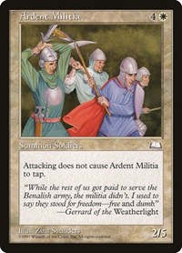 Ardent Militia, Magic: The Gathering, Weatherlight
