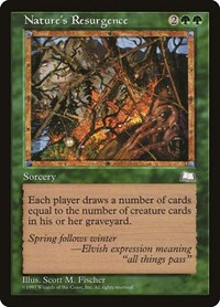 Nature's Resurgence, Magic: The Gathering, Weatherlight