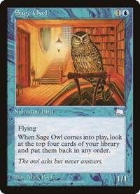 Sage Owl, Magic, Weatherlight