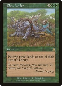 Plow Under, Magic: The Gathering, Urza's Destiny