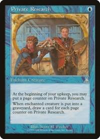 Private Research, Magic: The Gathering, Urza's Destiny
