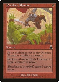 Reckless Abandon, Magic: The Gathering, Urza's Destiny