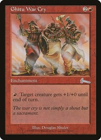 Ghitu War Cry, Magic: The Gathering, Urza's Legacy