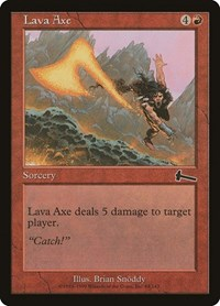 Lava Axe, Magic: The Gathering, Urza's Legacy