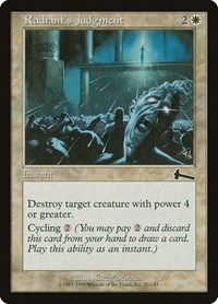 Radiant's Judgment, Magic: The Gathering, Urza's Legacy