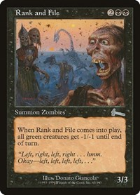 Rank and File, Magic: The Gathering, Urza's Legacy