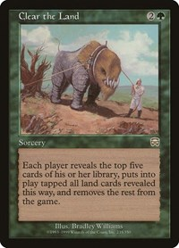 Clear the Land, Magic: The Gathering, Mercadian Masques